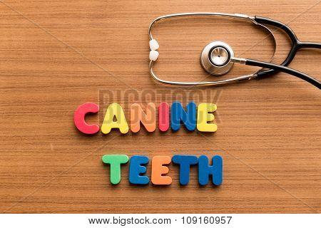 Cannie Teeth Colorful Word