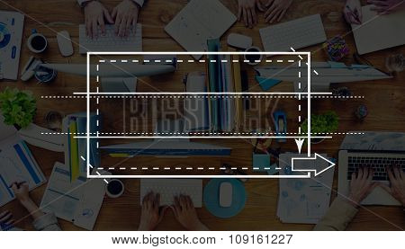 Group of Business People Busy Working in the Office Concept