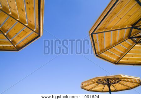 Parasols On A Background Of The Sky