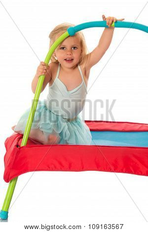 Cute little gymnast