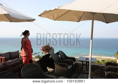 Sea View From Cafe