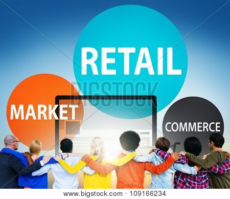 Retail Consumer Commerce Market Purchase Concept