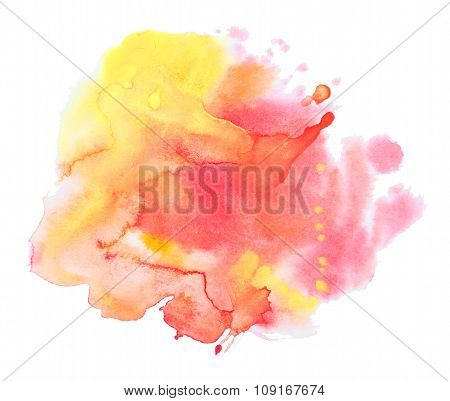 Abstract watercolor background texture in different colors