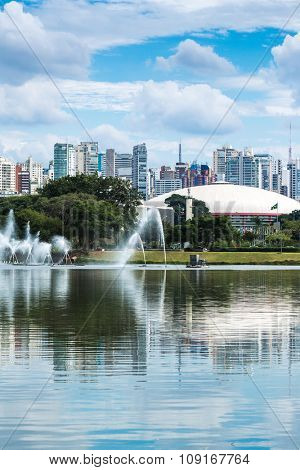 Sao Paulo skyline in Brazil