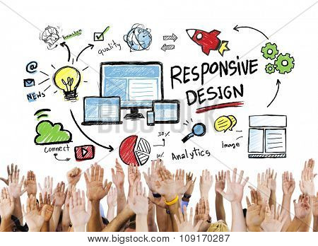 Responsive Design Internet Web Online Hands Volunteer Concept