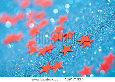 Macro photo of christmas stars.