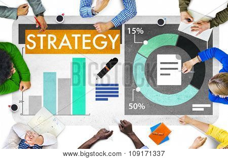 Strategy Planning Business Meeting Graphic Concept