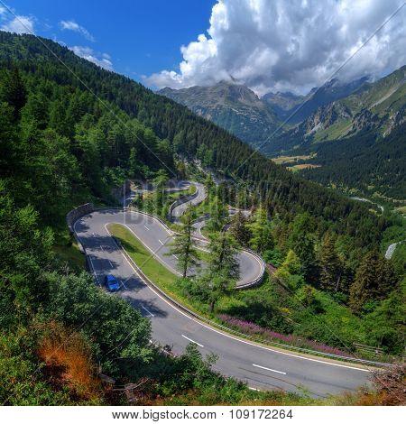 Amazing view of maloja pass, Alps, Switzerland, Europe.