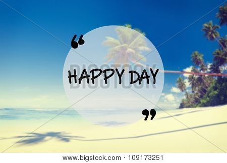 Summer Beach Friendship Holiday Vacation Happy Day Concept