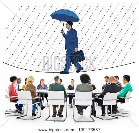 Risk Management Protection Opportunity Planning Concept