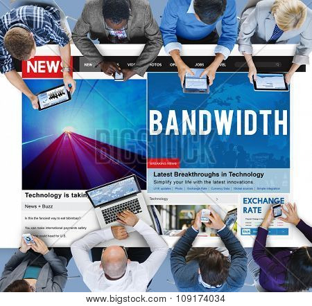 Bandwidth Internet Online Connection Broadband Technology Concept