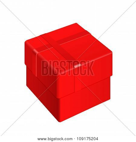 Red Blank Package Box