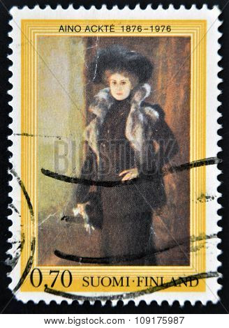 FINLAND - CIRCA 1979: A stamp printed in Finland shows Aino Ackte circa 1979