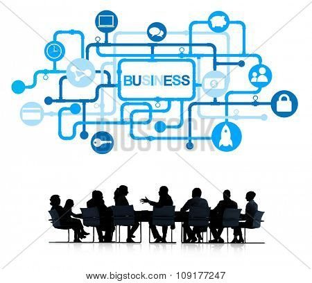 Business People in a Meeting and Business Concepts
