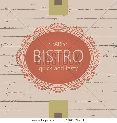 Template logo for bistros, cafes and restaurants