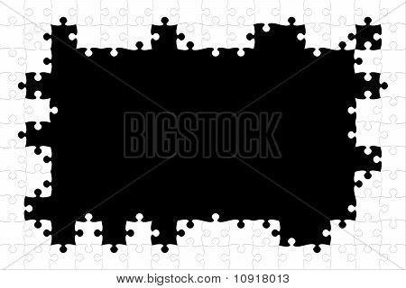 White Puzzle Frame