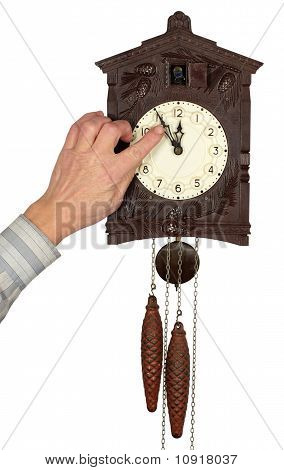 Wall clock with a cuckoo