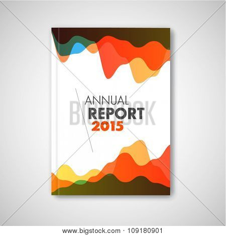 Modern Vector abstract brochure / report design template with graphs