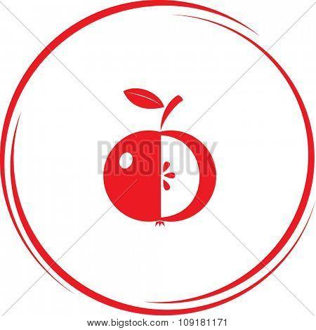 apple. Internet button. Vector icon.