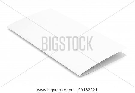 Empty paper booklet on white background