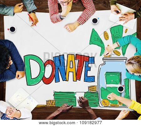 Donate Give Help Support Assistance Concept