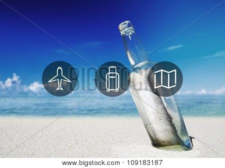 Travel Flight Journey Adventure Destination Concept