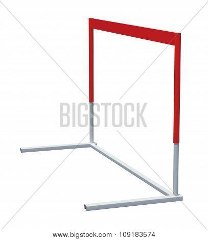 Treadmill barrier on white