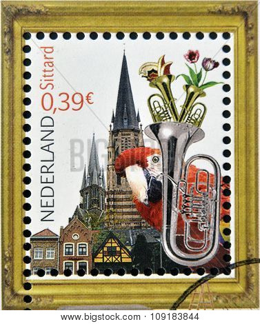 HOLLAND - CIRCA 2006: A stamp printed in Netherlands dedicated to beautiful Holland shows Sittard