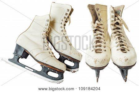 Vintage White Ice Skates