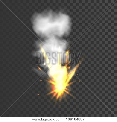 Realistic explosion sign