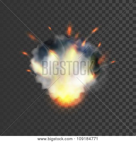 Realistic explosion symbol