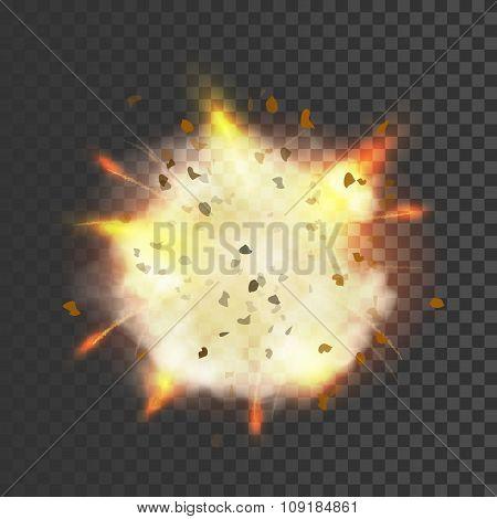 New realistic explosion symbol