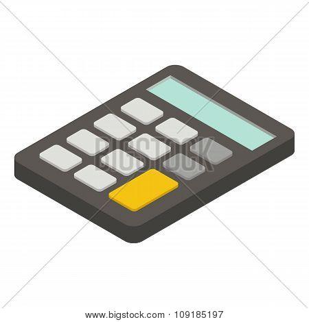Calculator isometric icon