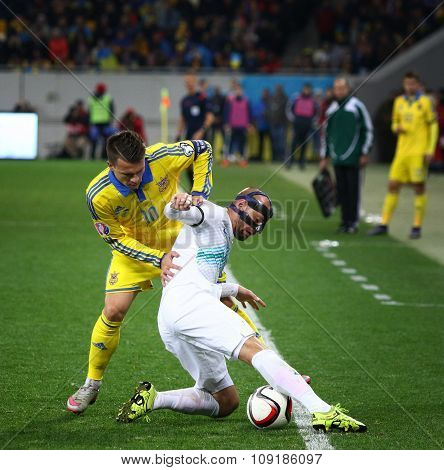 Uefa Euro 2016 Play-off Game Ukraine Vs Slovenia