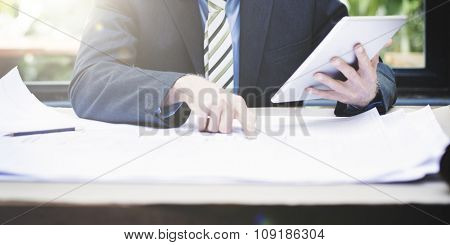 Business Businessman Concentrate Strategy Creative Concept, blurred.