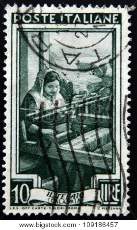 A stamp printed in Italy from the