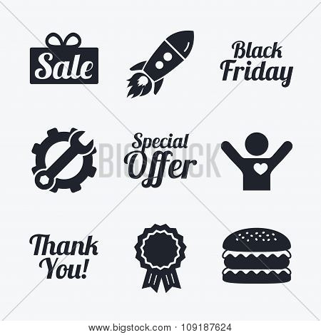 Sale icons. Special offer symbols