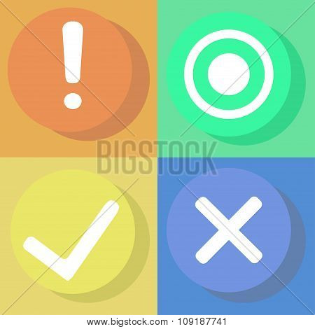 Symbol , Sign, Vector Check Mark Icons