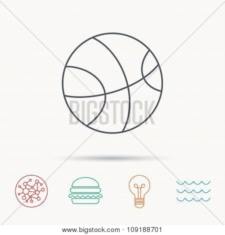 Basketball icon. Sport ball sign.