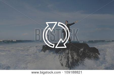 Refresh Renew Icon Cycle Arrow Concept