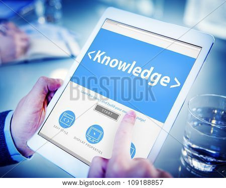 Digital Online Internet Knowledge Office Working Concept