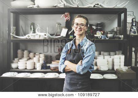 Craftsman Handmade Artist Showroom Workshop Concept
