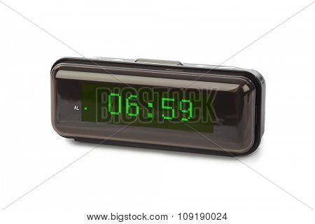 Digital clock isolated on white background
