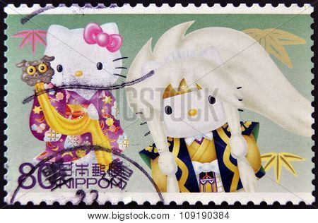 JAPAN - CIRCA 2011: A stamp printed in Japan shows Hello Kitty circa 2011