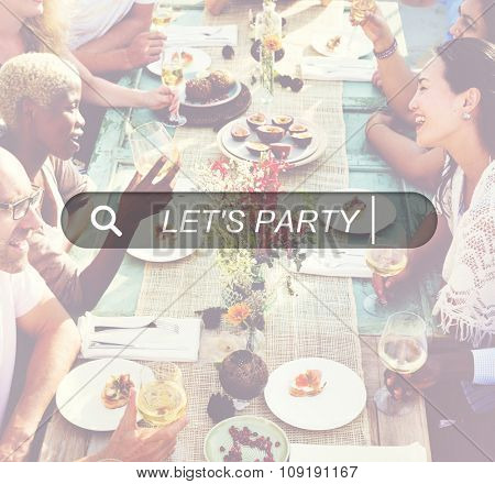 Let's Party Summer Freedom Happiness Concept