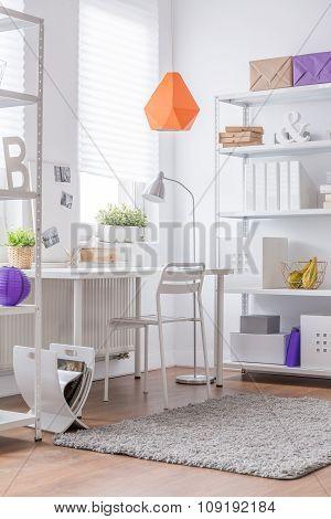Decorative Orange Lamp