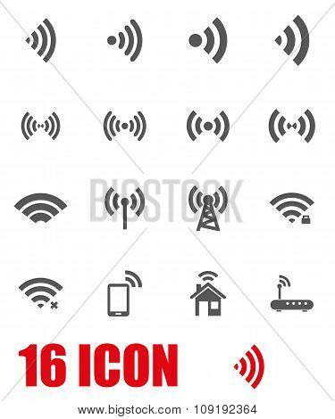 Vector Grey Wireless Icon Set