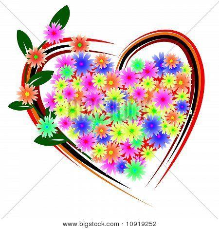Flower heart for the beloved