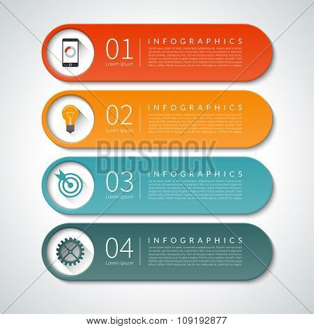 Infographic design banners set. Vector background