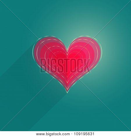 Single Flat Heart